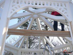 Viktorianischer gartenpavillon